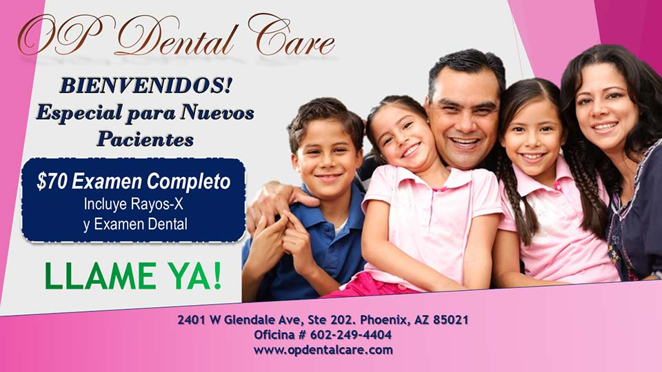 New Patient Special Phoenix Dentist Spanish